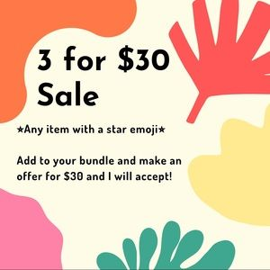 ⭐️3 for $30 SALE⭐️